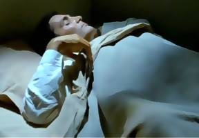 Crane tosses in his sleep.  There is a connection between the mummy and he.