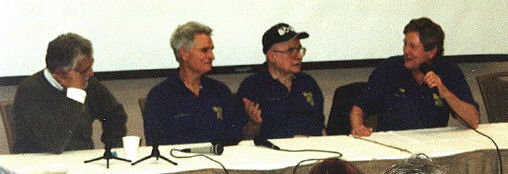 David Hedison, Del Monroe, Terry Becker, Allan Hunt at the Chiller Voyage panel.