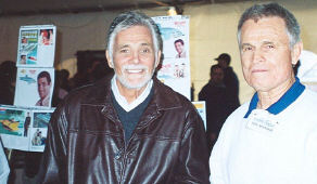 David Hedison and Del Monroe, two very nice people.