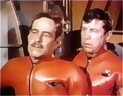 The very capable Arthur Space and Paul Trinka suited-up in scene from Destroy Seaview.