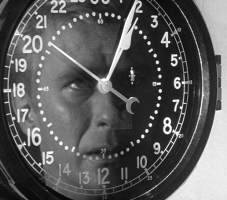 Great shot of Clark trapped by a ticking clock.