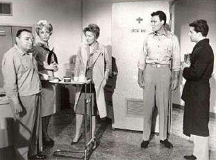 Movie sick bay publicity shot with cast.