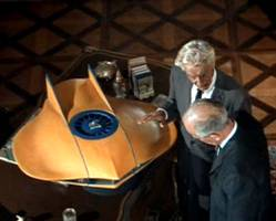 Secret footage of Noah Grafton and Tippi's father admiring unauthorized model of the Flying Sub.