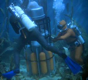 Superbomb on the ocean floor.  They must retrieve and dismantle the bomb before it goes off.