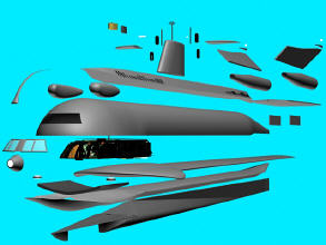 SSRN Seaview solid model exploded.