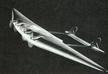Flying Wing model from Dick Tracy