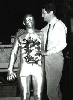 David Hedison with somewhat robotic dance partner.