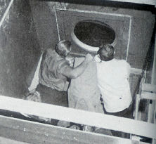 "Allen and Abbot in the ""barge."""