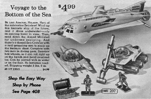 Montgomery Ward Playset Ad--Voyage to the Bottom of the Sea.