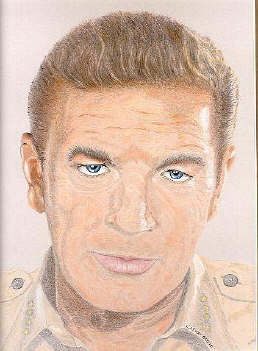 Catherine Scott Artwork of Richard Basehart.