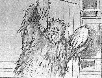 The Abominable Snowman Production Art.